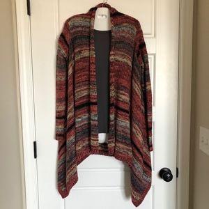 EUC AEO space dye knit cardigan